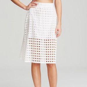 Zinke Eyelet Midi Skirt